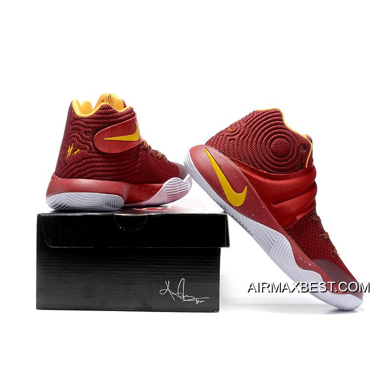210ce0d211ca ... Big Deals Girls Nike Kyrie 2 Cav Wine Red Yellow ...