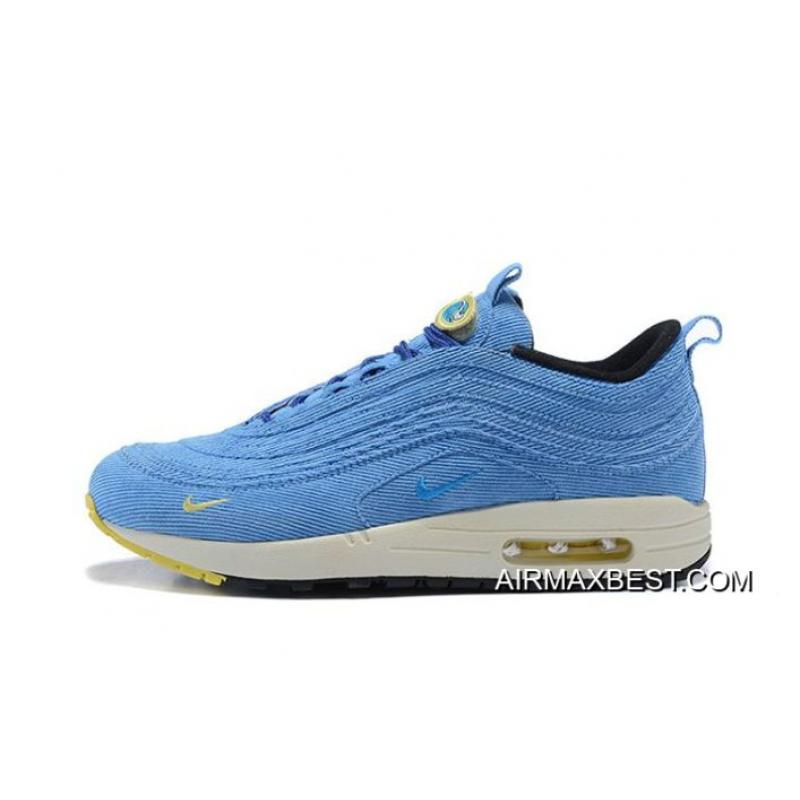 Men Sean Wotherspoon Nike Air Max 97 Hybrid SKU 95621-308 Best ... 7ca0e2a1a