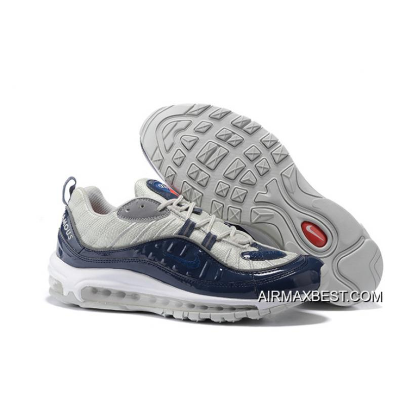 the latest d37ca 702bf Best New Release Men Supreme X NikeLab Air Max 98 Running Shoe SKU 155839-  ...