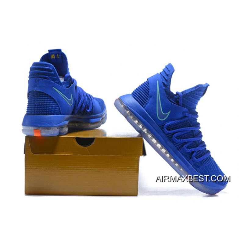 "83706a08fb6 Nike KD 10 ""City Edition"" Racer Blue Light Menta Black-Total Crimson ..."