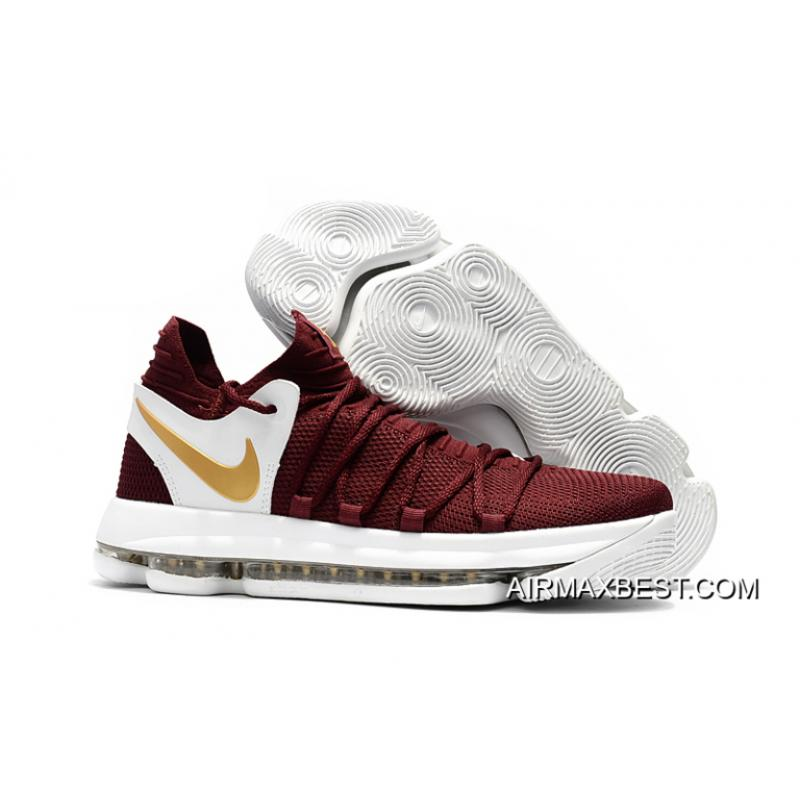 new arrival 954b8 4c744 Where To Buy Nike KD 10 Burgundy White Gold ...