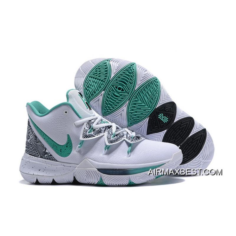"""ee250a57166 Outlet Nike Kyrie 5 """"Unveiled"""" PE White/Green-Black, Price: $87.51 ..."""