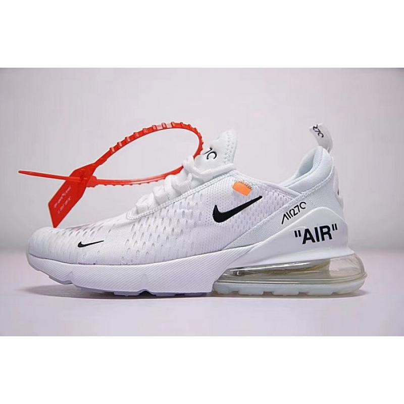 Men OFF WHITE X Nike Air Max 270 Running Shoe SKU:171169 252 Free Shipping