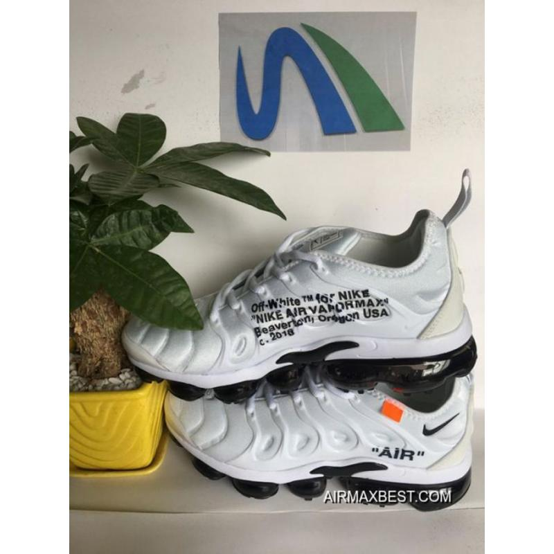 outlet store 40458 921b9 Best Men OFF-WHITE X Nike Air VaporMax 2018 Plus TN Running Shoes  SKU:37222-440