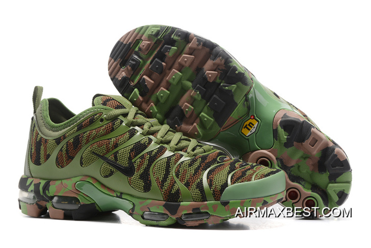 Best Outlet Men Nike Air Max Plus TN Ultra Camouflage Running Shoe SKU:57445 243