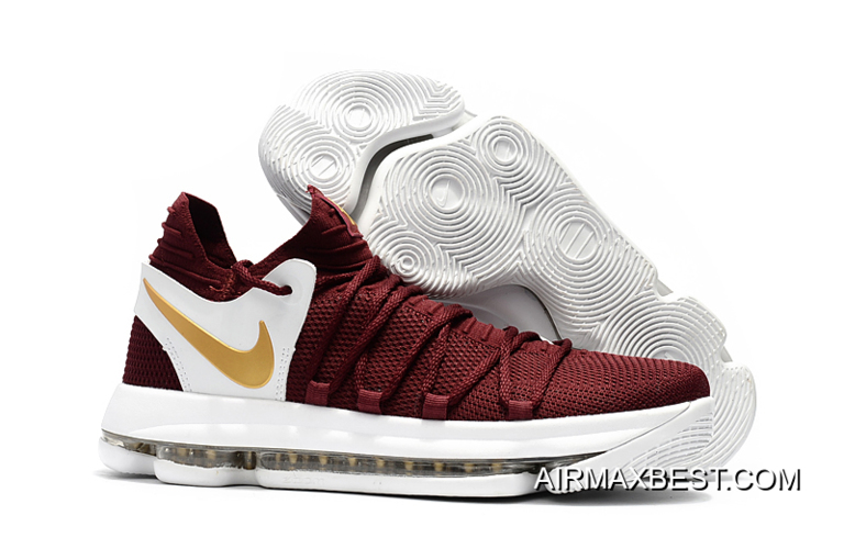 0cb293181d46 Where To Buy Nike KD 10 Burgundy White Gold