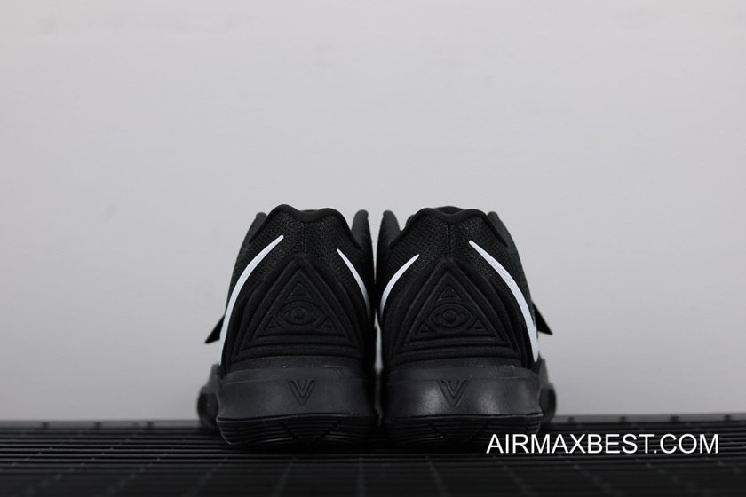 7f5bcd065497 Authentic Nike Kyrie 5 Black White