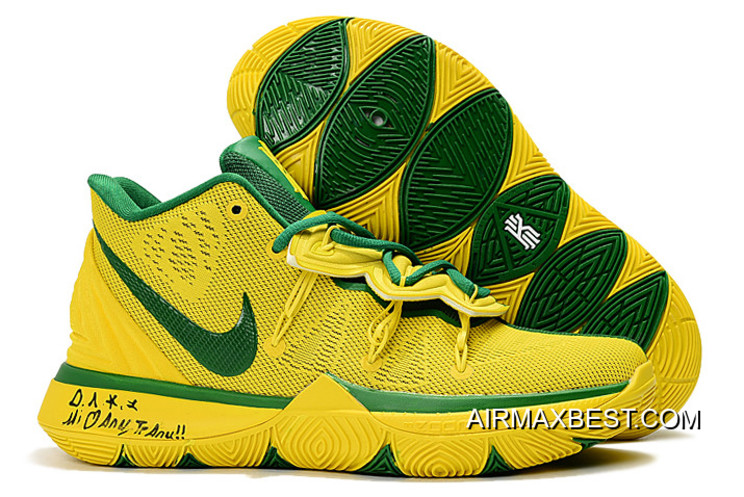 """online store 44bfb be00b Authentic Nike Kyrie 5 """"I Am The Universe"""" Green/Yellow"""
