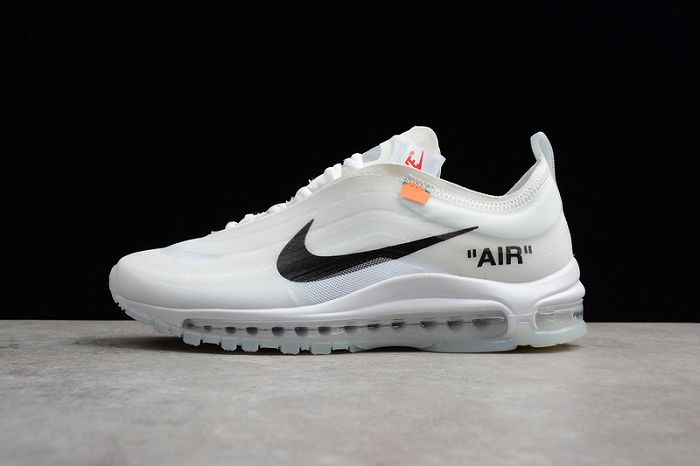 9b7d21a48e Men OFF-WHITE X Nike Air Max 97 Running Shoe SKU:176711-216 New ...