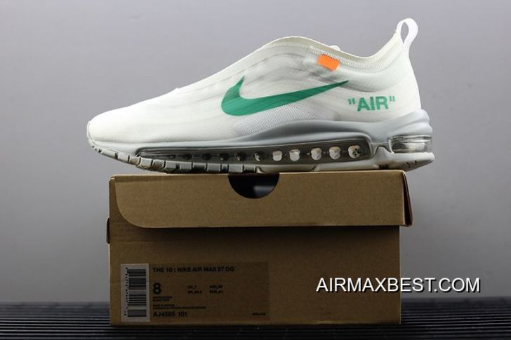 Discount Men OFF WHITE X Nike Air Max 97 Menta Running Shoe
